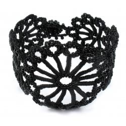 "Bracelet ""Hawa"" Noir carbone"