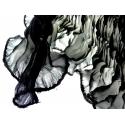 Foulard en soie Waves, noir et blanc