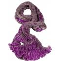 Foulard en soie Waves, fushia et vieux rose