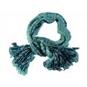 Foulard en soie Waves, emeraude et turquoise