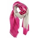 Chèches Chic en coton sable et rose fluo karawan
