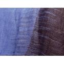 Ikat bicolore en lin, indigo et brun