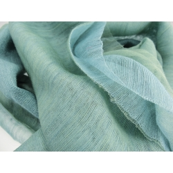 Étoles Vibrations en laine et soie, celadon