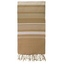 """Foutas """"Sand"""", sable et blanc pur"""