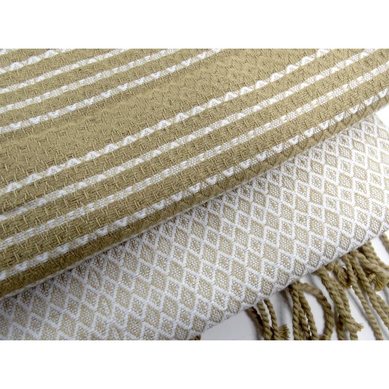 foutas sand sable et blanc pur en coton biologique 100x200 cm. Black Bedroom Furniture Sets. Home Design Ideas