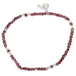 """Bracelet silver """"Uma"""" Garnet"""