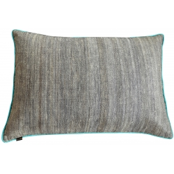Coussin rectangulaire turquoise - 40x60cm