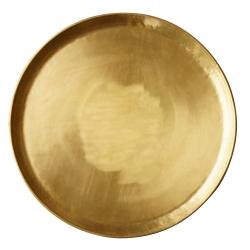 """Plateau """"Gold"""" lisse doré"""