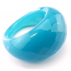 Bague Glassy Bleu ciel opaque