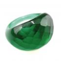 Bague Glassy Vert forêt translucide