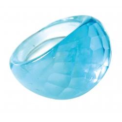 Bague Glassy Turquoise translucide