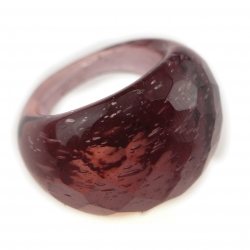 Bague Glassy Prune translucide