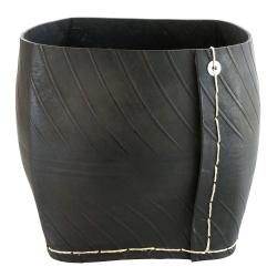 Cache-pot carré en pneu - XL modèle