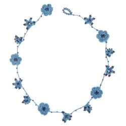 """Necklace """"Crystal"""" Electric indigo"""