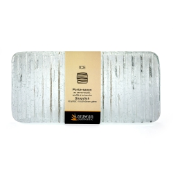 "Rectangular Soap Tray ""Ice"" Aqua"