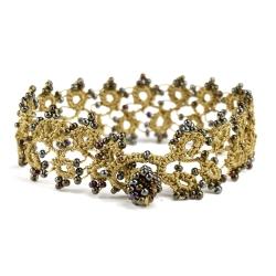 """Bracelet """"Husnu"""" Vert lichen"""