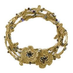 """Bracelet et collier """"Chainette"""" Vert lichen"""
