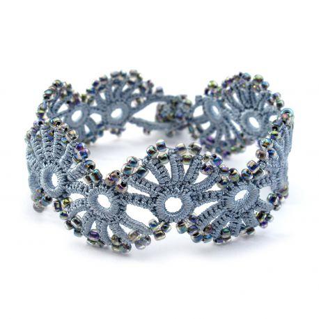 """Bracelet """"Yelin"""" Gris perle"""