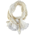 Foulard en soie Waves, or et beige