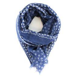 Printed Wool Scarf - Celeste pattern