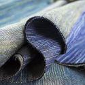 Écharpe en Laine et Soie - Bronze et Bleu