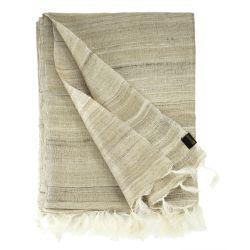 Natural wild silk stole