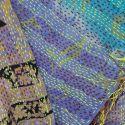 Plaid en soie brodée Kantha - n°2