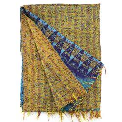 Kantha Embroidered Silk Plaid - n°3