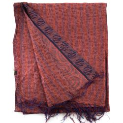 Plaid en soie brodée Kantha - n°8