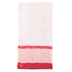 Sarong-scarve Zigblock, red