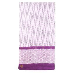 Sarong-scarve Zigblock, Plum