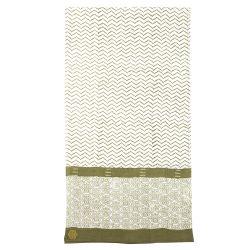 Sarong-scarve Zigblock, Olive Green
