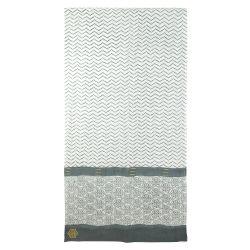 Sarong-scarve Zigblock, China blue