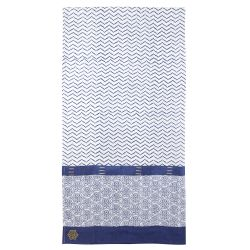 Sarong-scarve Zigblock, Imperial blue