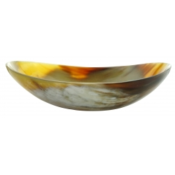 Wide cup in marble horn