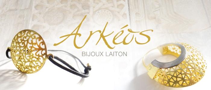Arkeos, bijoux laiton