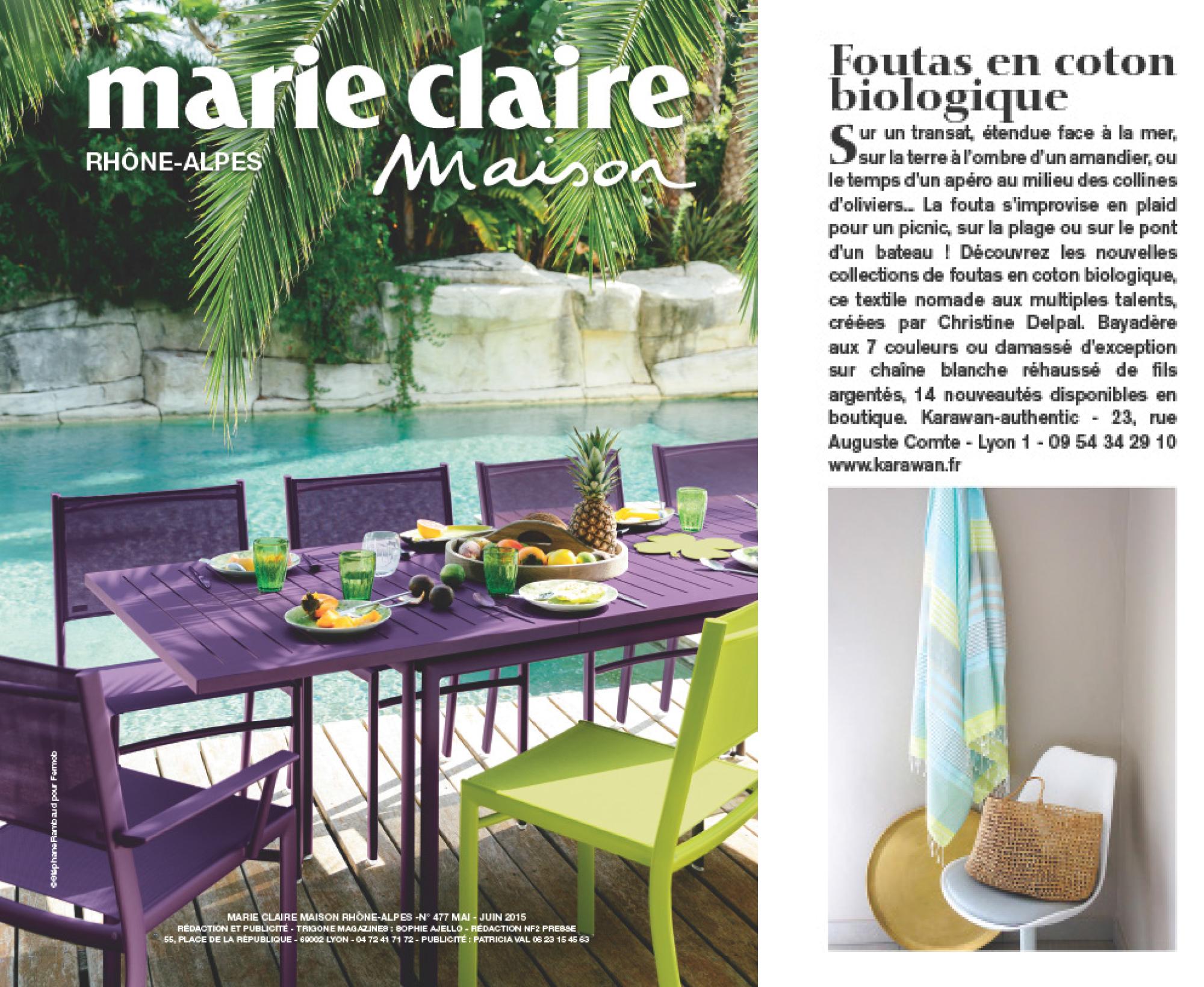 Marie-claire MAISON, mai 2015