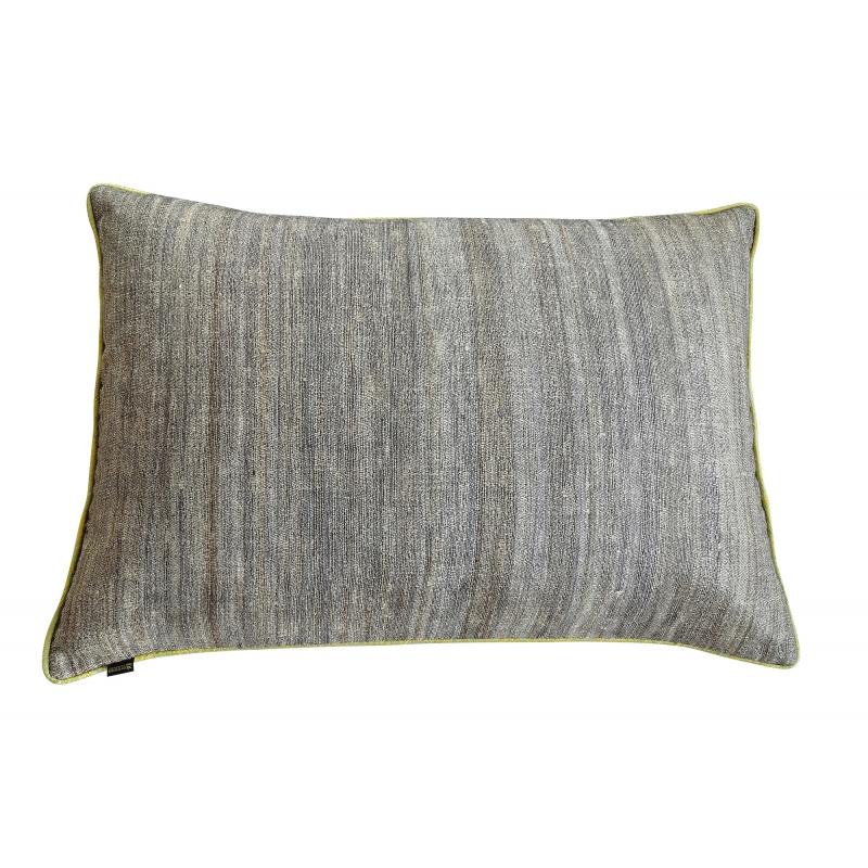 coussin ortie et soie rectangulaire bambou. Black Bedroom Furniture Sets. Home Design Ideas